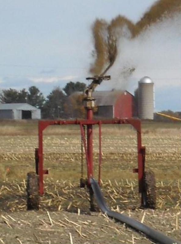 single nozzle manure irrigation