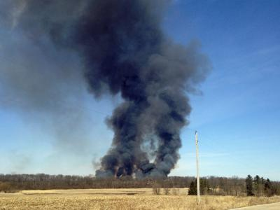 Fire burns 100 acres of marsh in Beaver Dam, nobody hurt