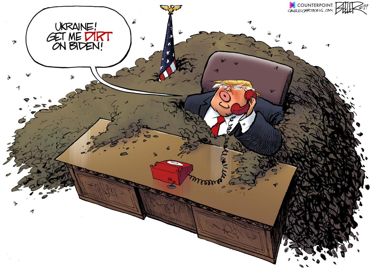 Trump Wants Dirt On Biden In Nate Beeler S Latest Political Cartoon Opinion Cartoon Madison Com