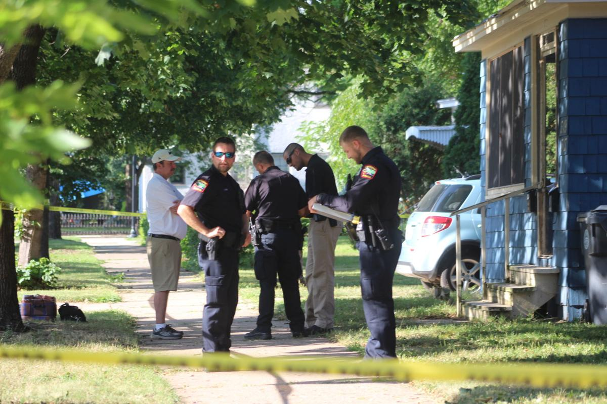 Police officers respond to shooting
