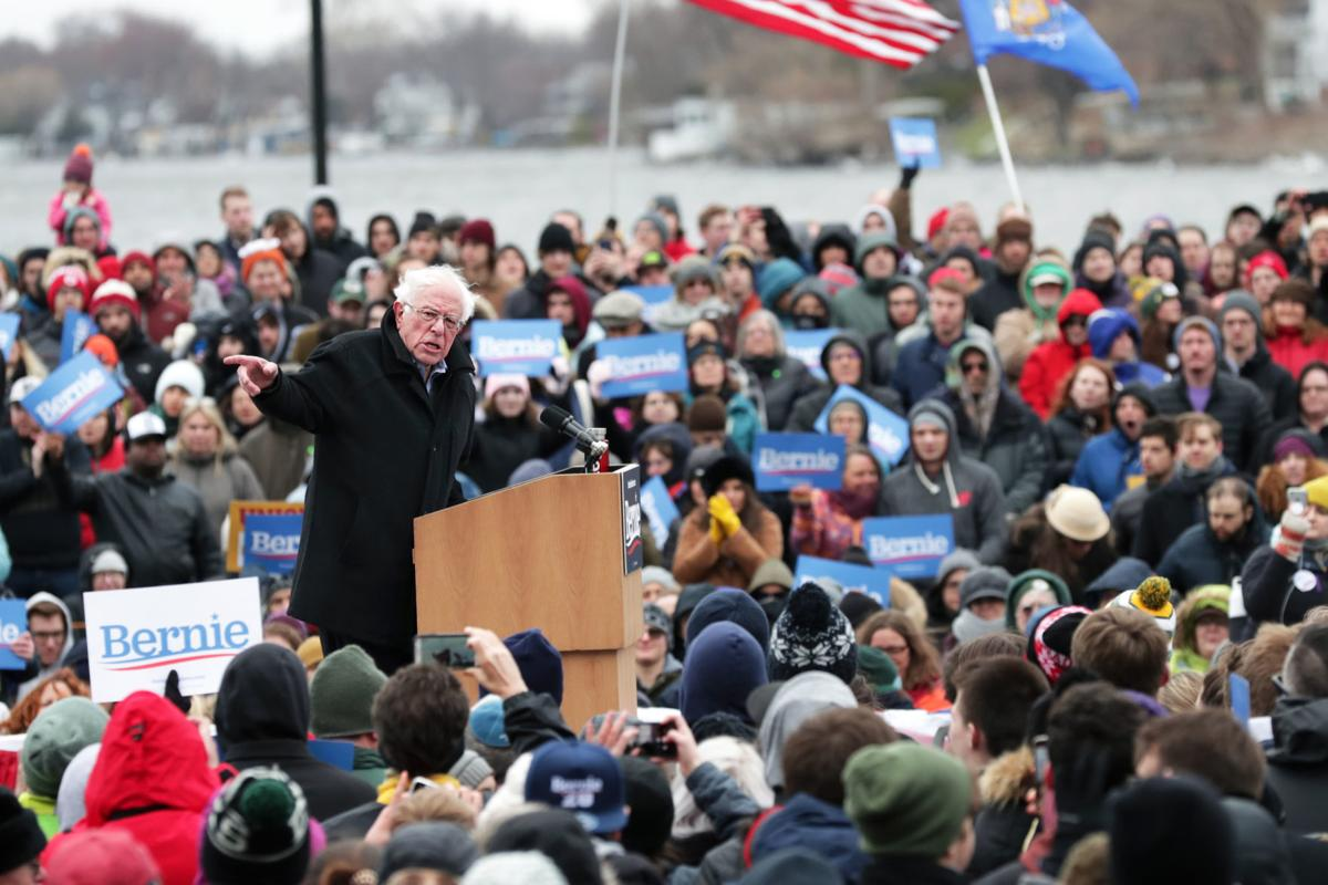 874d4d48c64 Bernie Sanders in Madison  2020 about whether  we strengthen ...
