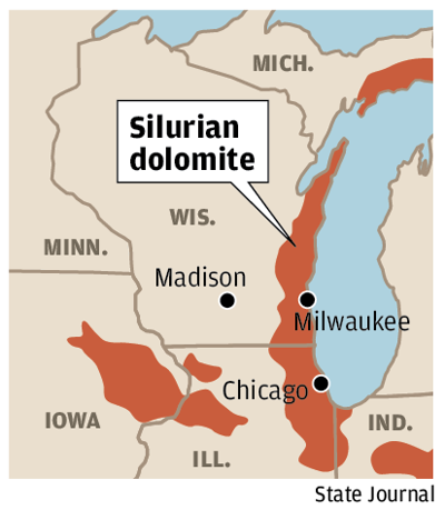 Silurian dolomite