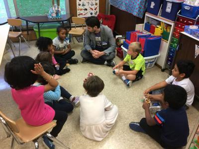 Yarmel and kindergarteners
