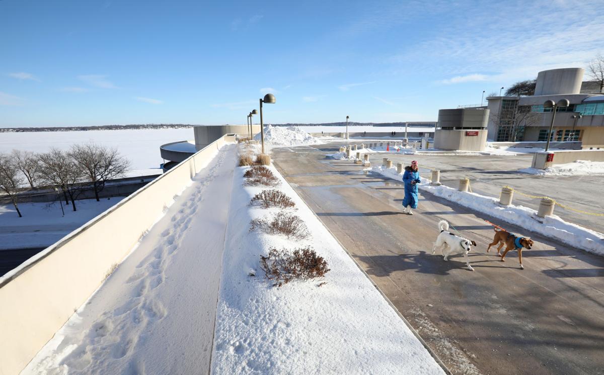 Monona Terrace parking garage roof