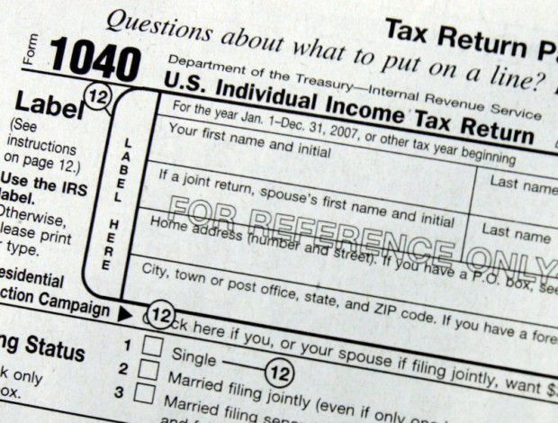 Income taxes, tax form, AP file photo (copy) (copy) (copy) (copy)