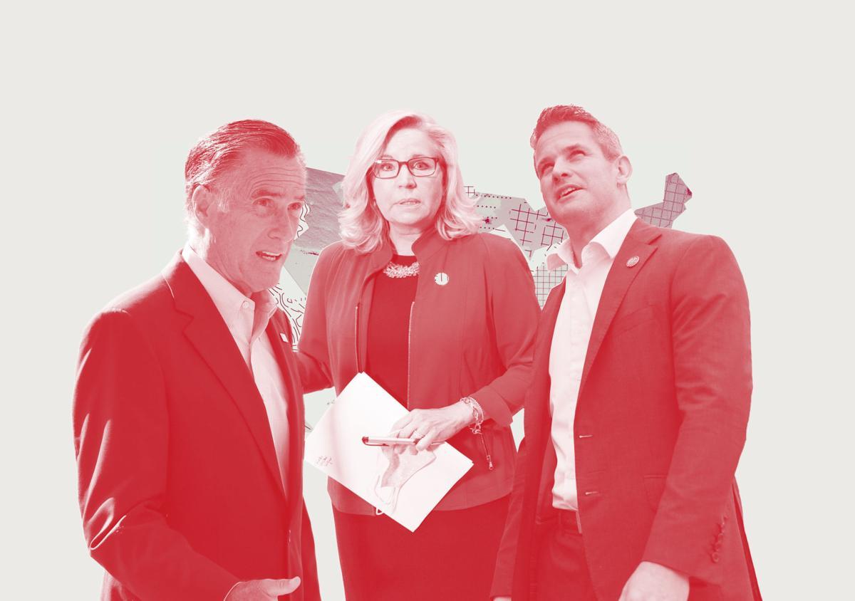 Romney, Cheney, Kinzinger mashup