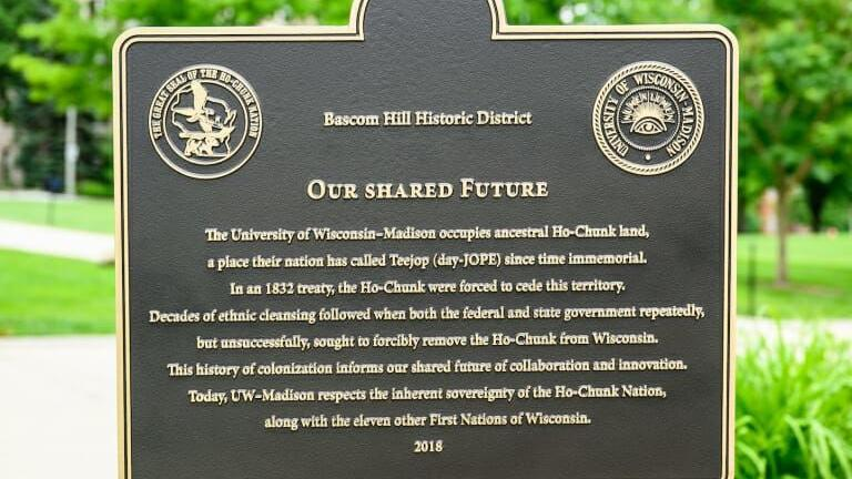 UW departments expand Native programming around touring Our Shared Future marker