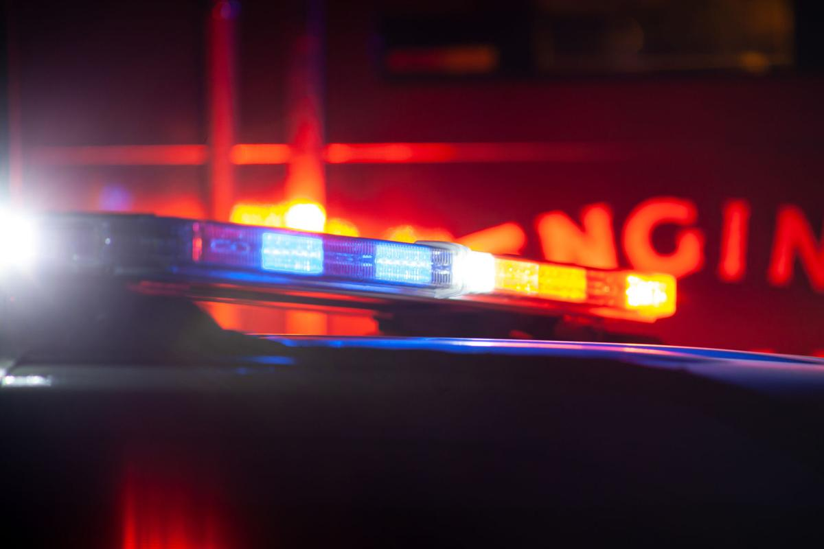 Police lights siren squad car