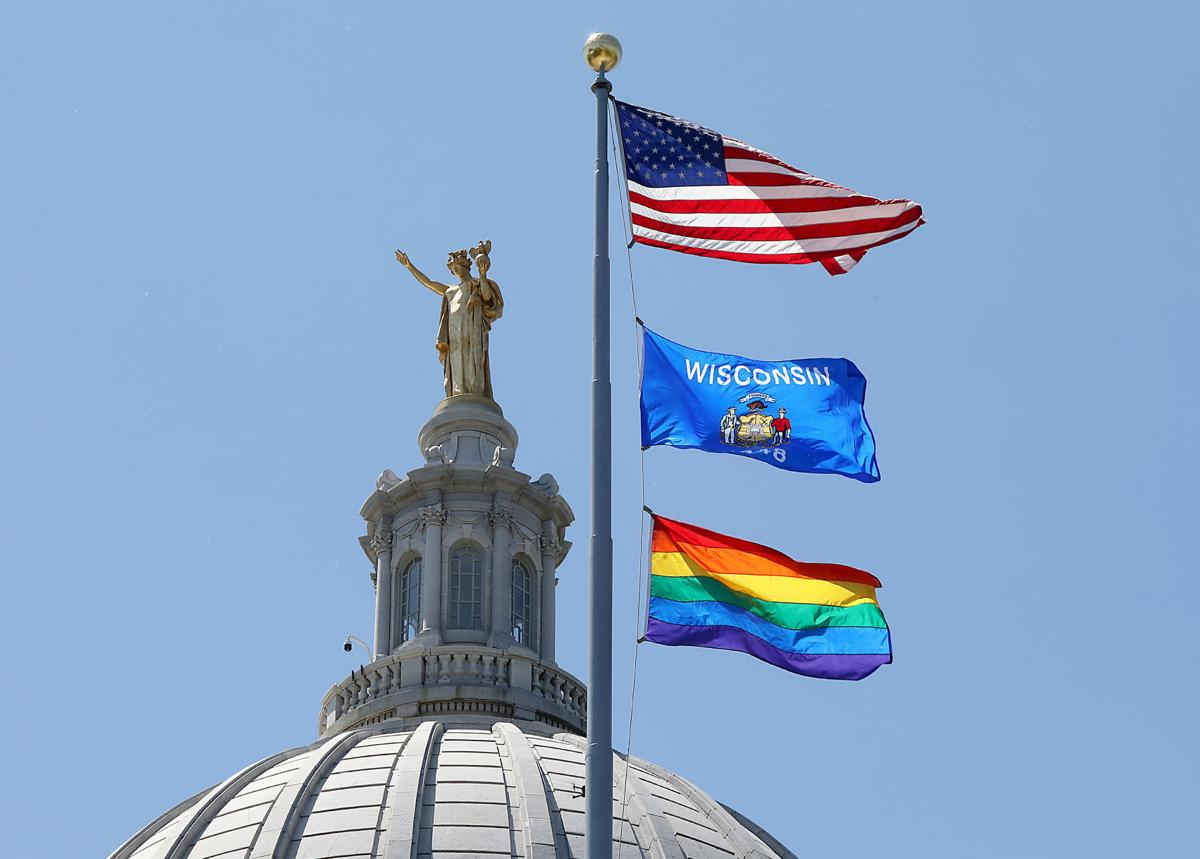 Rainbow flag at the Capitol, 2019
