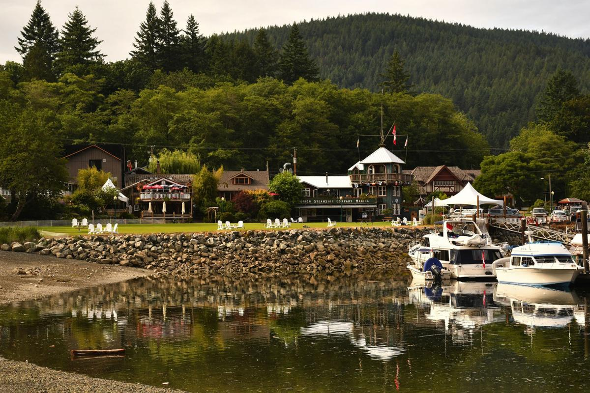 The Union Steamship Company Marina Resort on Bowen Island in British Columbia, Canada.