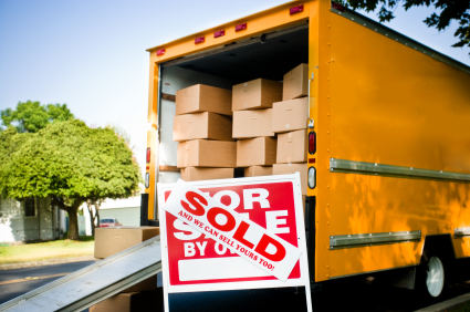 Moving van stock art