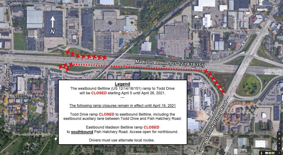 Beltline ramp closures