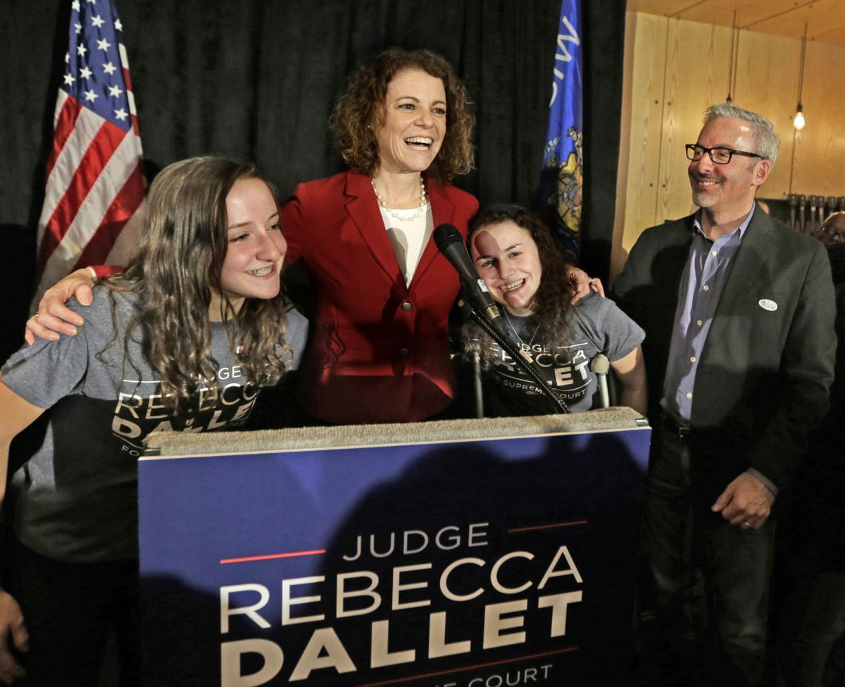 Rebecca Dallet, family, election celebration, Journal-Sentinel photo
