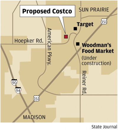 Costco Locations Wisconsin Map.Costco Proposes Store In Sun Prairie Madison Wisconsin Business