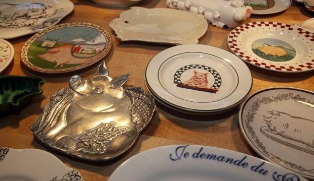 Heritage Tavern, pig plates