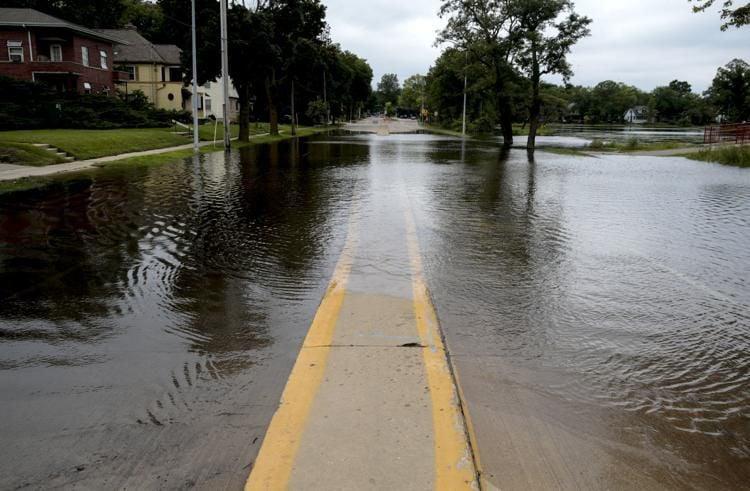 East Johnson Street flooding August 2018