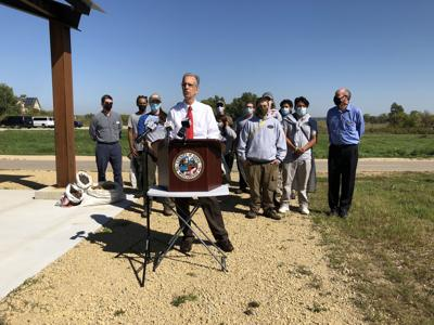 Joe Parisi budget press conference on environment (copy for Fanlund column)