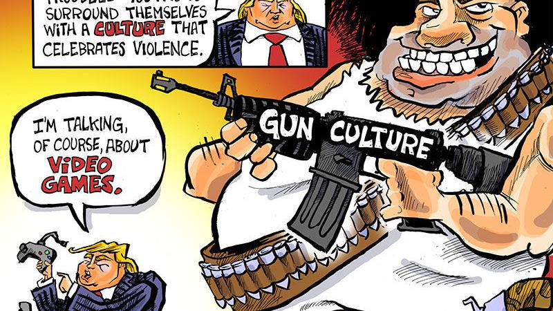 Phil Hands: Too many cartoons about gun violence