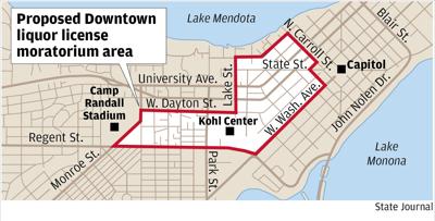 Proposed liquor license area
