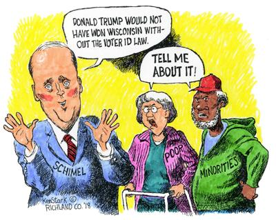 Brad Schimel cartoon