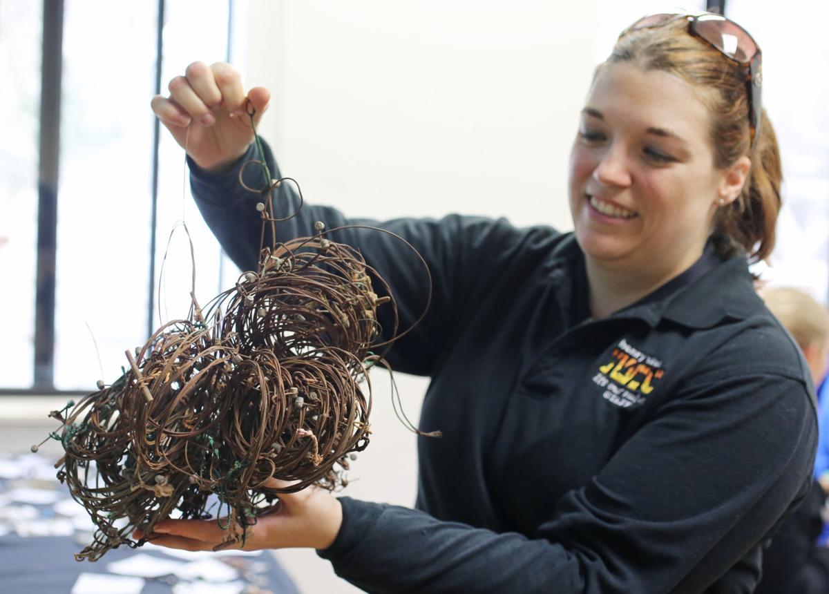 Erin Flynn displaying poaching snares