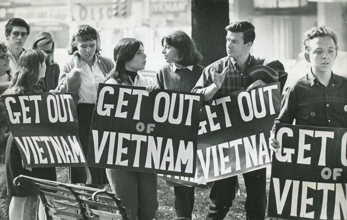 Vietnam anti-war protest in 1968 or 1969