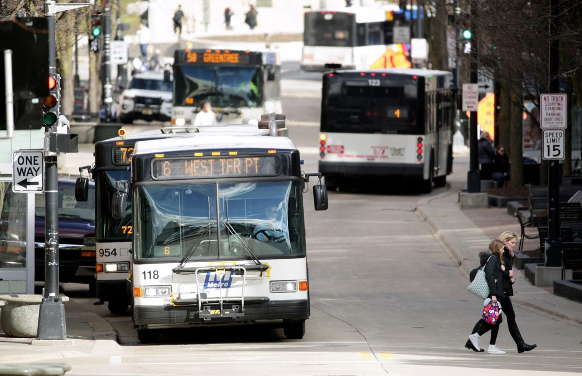 Police escort madison city bus