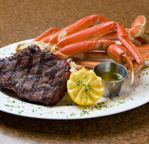 Steak & Crab legs