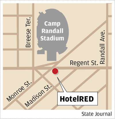 HotelRED map
