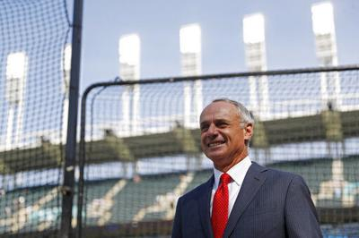 Rob Manfred, AP photo