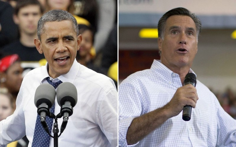 Barack Obama Mitt Romney mashup file photo 9/7/2012