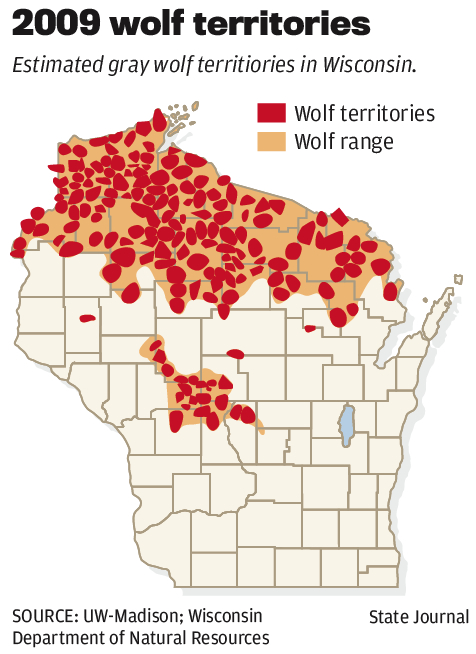 2009 wolf territories map | | madison.com