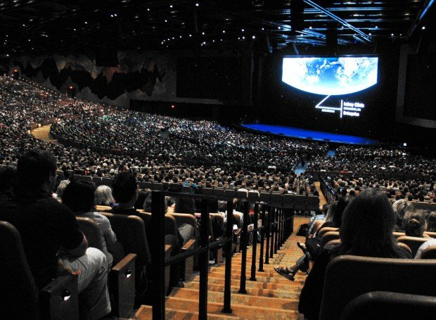 Epic's huge Deep Space auditorium hosts its first program