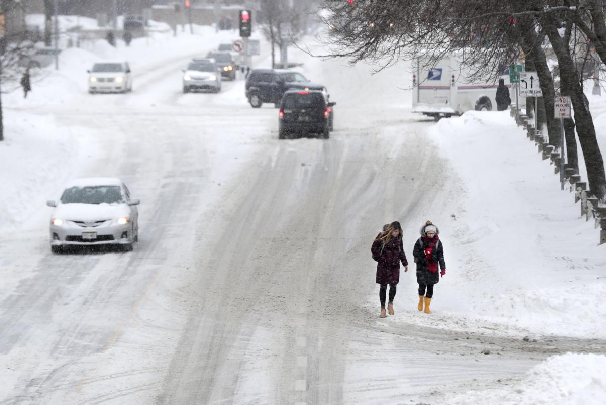 Winter storm hits Madison area