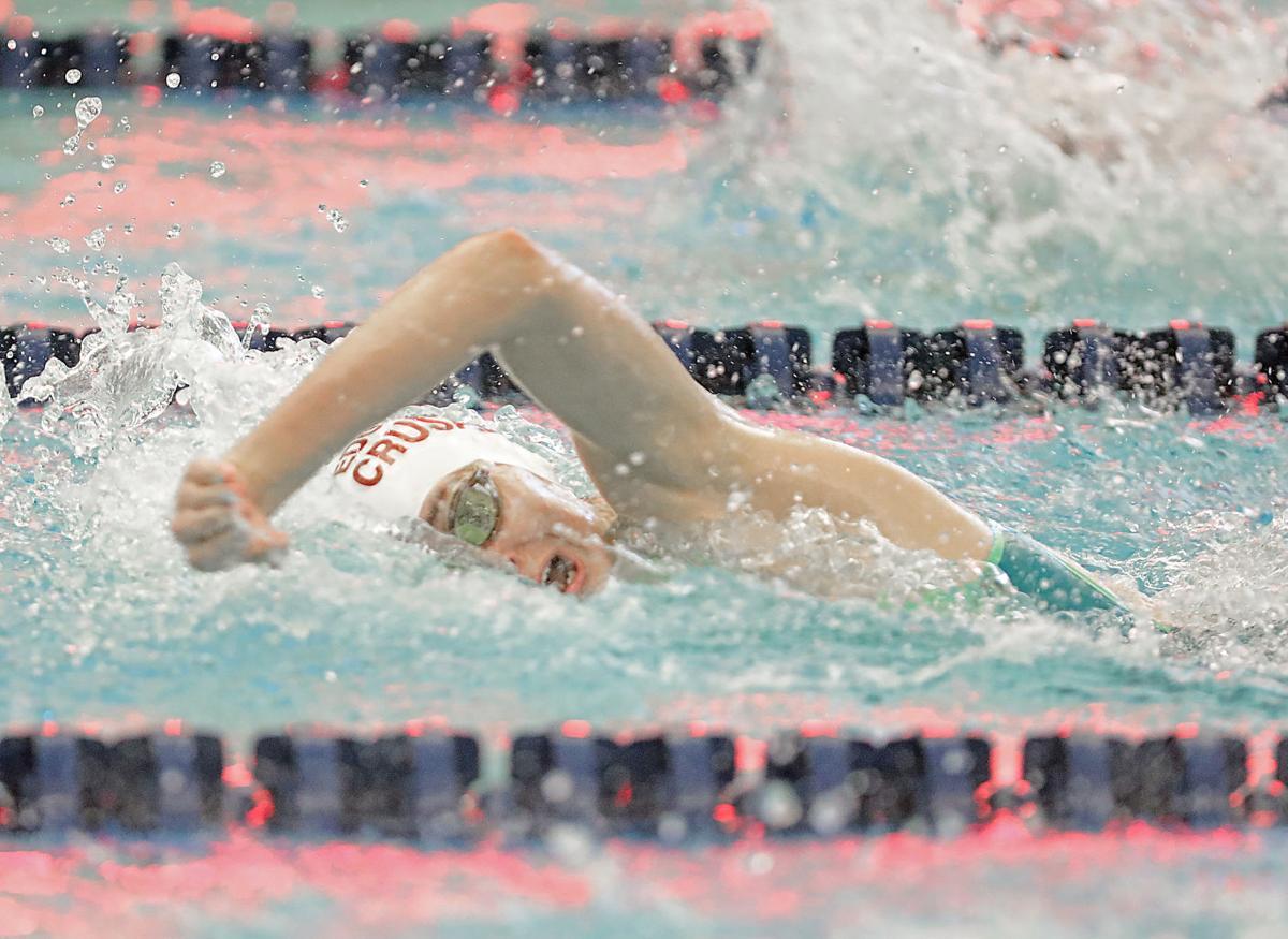 Prep girls swimming photo: Madison Edgewood's Abby Reid