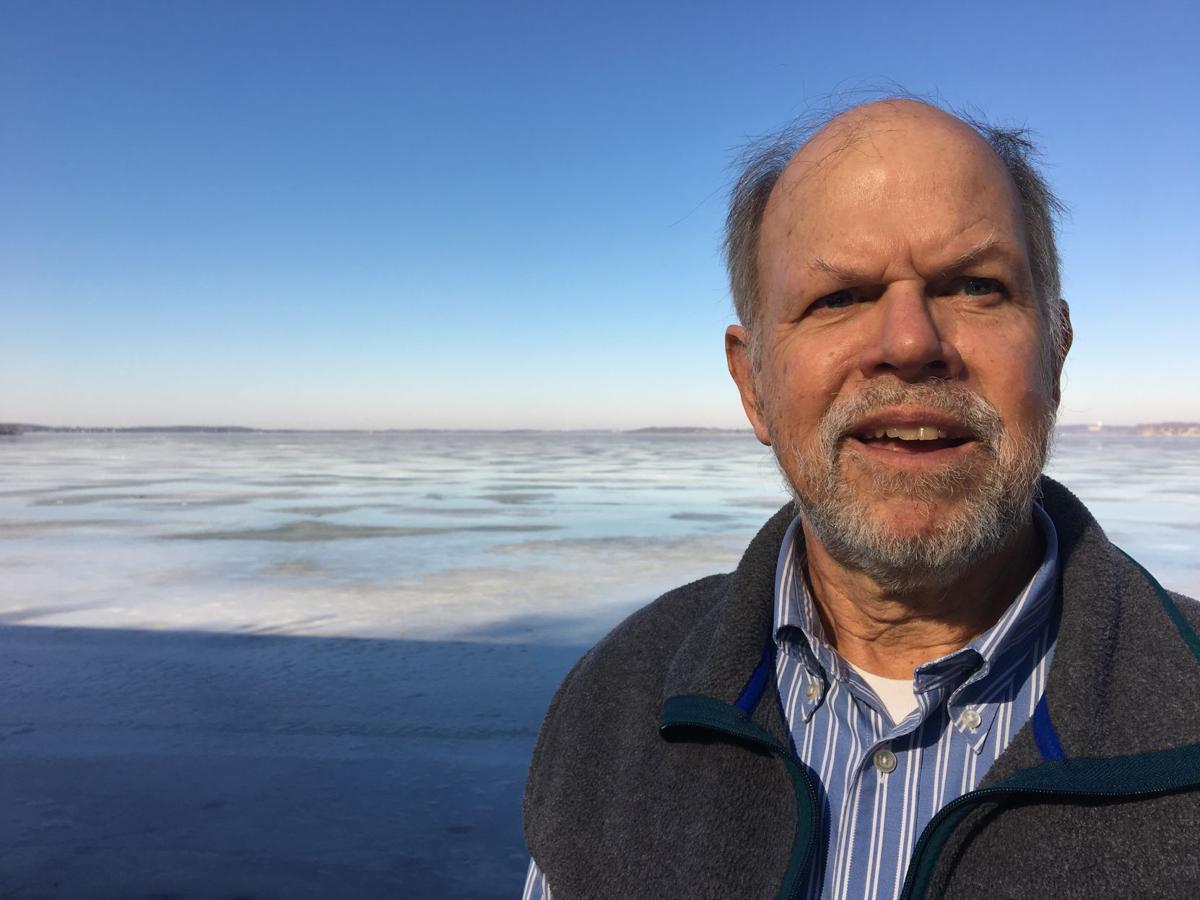 Stephen Carpenter next to lake