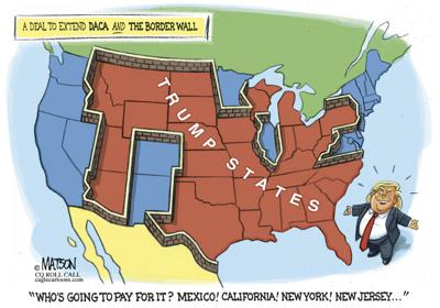 Image result for trump border wall cartoon