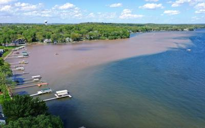 Lake Mendota silt plume