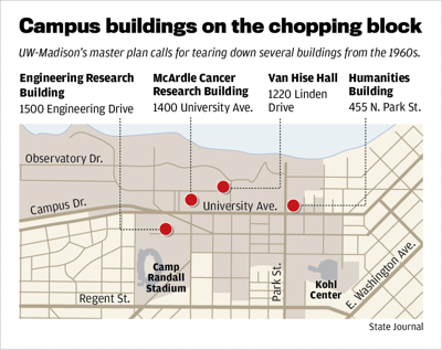 Campus buildings on the chopping block