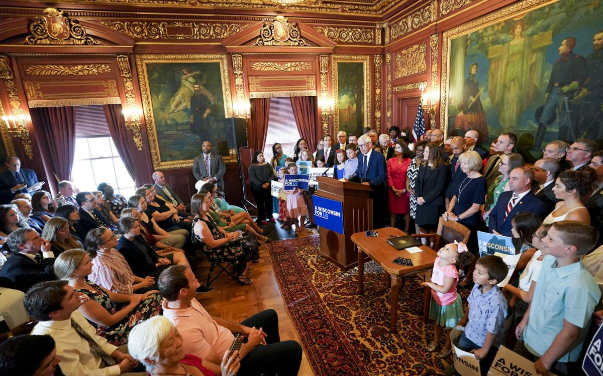 With veto pen, Gov  Tony Evers 'finally able to move the