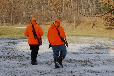 Blaze orange hunters
