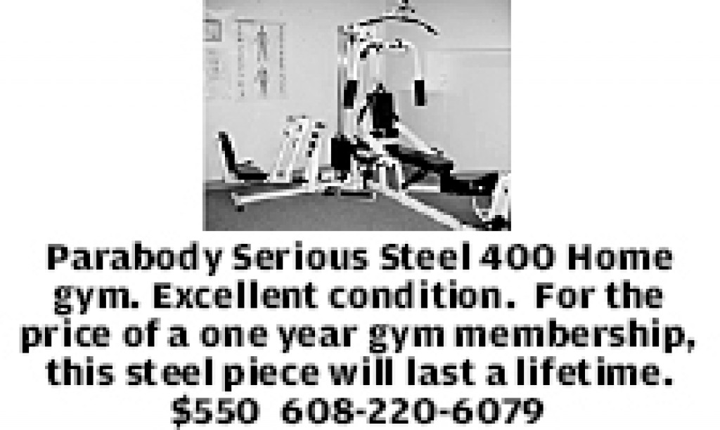 Parabody Serious Steel 400 Home Gym. Excellent Condition. For The   Sport    Madison.com