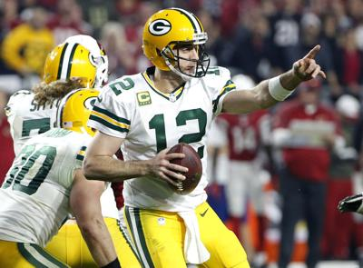 buy popular 491f0 e94be Packers: Aaron Rodgers replaced by Oakland's Derek Carr in ...