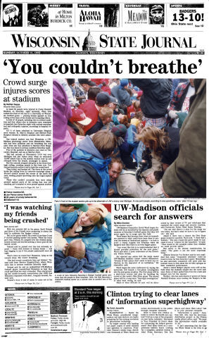 Wisconsin State Journal front page
