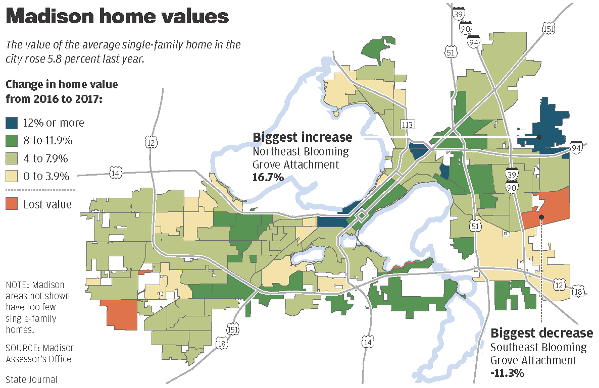 Property Values Map on