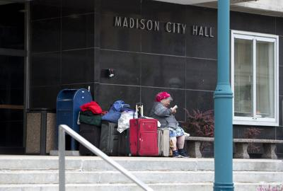 City-County Building homeless, State Journal photo