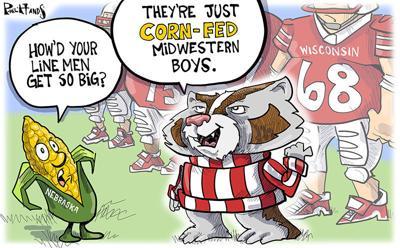 Badgers line is raised on corn