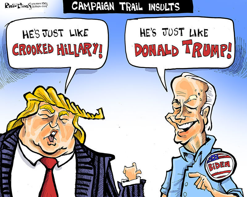 Hands on Wisconsin: Biden and Trump trade insults | Opinion | Cartoon |  madison.com