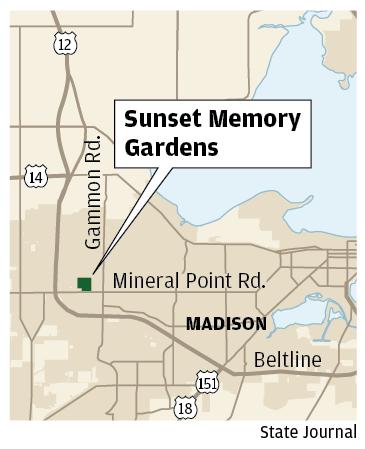 Sunset Memory Gardens map