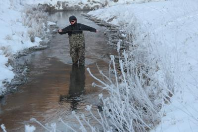 Winter trout fishing photo